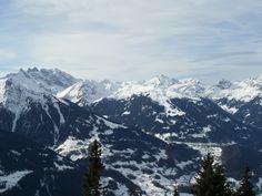 Uitzicht tijdens het skieën