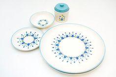 Vintage Stetson Swiss Chalet Dinnerware by BrightWallVintage, $38.00