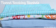 {Easy} Baby Receiving Blanket Tutorial - It Happens in a Blink.  Using a serger.