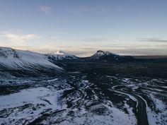 Aerial Langjökull by mattliefanderson