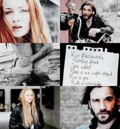 Sansa and Sandor, I don't ship it but this is some nice aesthetics.