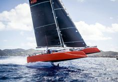 pinterest.com/fra411 #sailing - Gunboat G4 foiling - les voiles de saint-barth regatta 2015 - not bad for a cruising multihull ...