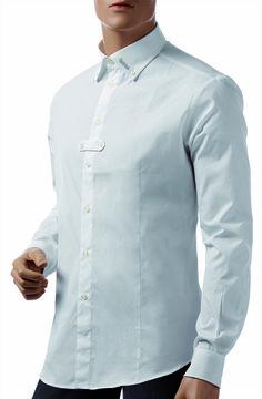 Camicia Tattini Uomo Maniche Lunghe, realizzata in tessuto elastico