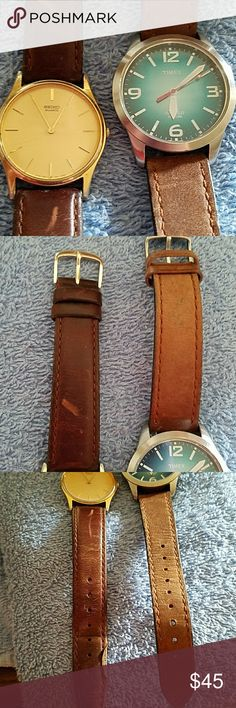 Timex men's vintage watches 2 timex vintage watches, good condition need batteries Timex Accessories Watches