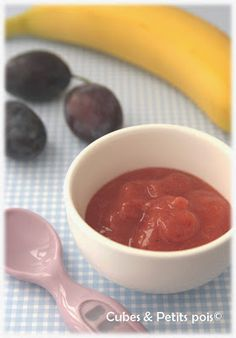 Recette pour bébé dès 6 mois Compote prunes banane cannelle