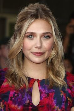 Elisabeth Olsen, hairstyle perfect for growing out bleached roots