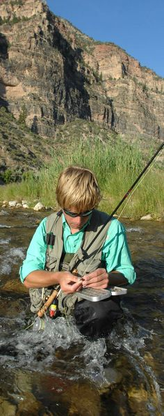 Fly Fishing at Jones Hole on the Green River Lodore Canyon ~ Dinosaur National Monument