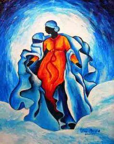 Assumption - Advocata Nostra, 2010 (acrylic on wood), Brintle, Patricia / Private Collection / Bridgeman Images Original Artwork, Original Paintings, Haitian Art, Caribbean Art, Art For Sale Online, Fine Art Prints, Canvas Prints, Tropical Art, Folk