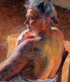 "Umberto Boccioni ""The Mother"" 1909 Oil on canvas"