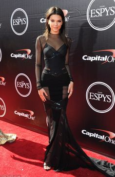 Kendall and Kylie Jenner support Caitlyn Jenner on ESPY red carpet #dailymail