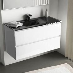 53 meilleures images du tableau STYLE : Salle de bain noir et blanc ...