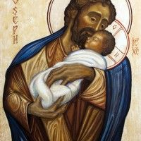 """""""Those who fear you rejoice to see me, because I hope in your word."""" Psalm // Saint Joseph and Jesus Christ, Son of God / San José y Jesucristo, Hijo de Dios // 2010 // By Fredrick del Guidice // © Oblates of St. Religious Pictures, Religious Icons, Religious Art, St Joseph, Catholic Art, Catholic Saints, Religion, Blessed Mother Mary, Son Of God"""