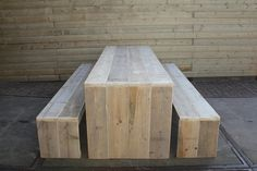 garden table from reclaimed wood by JDDDESIGN on Etsy
