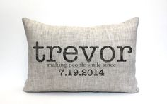 baby gift baby pillow baby shower gift child's name by coverLove