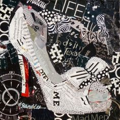 The Good Life torn paper collage Nancy Standlee Fine Art
