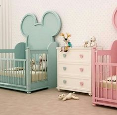 Room for twin boy & girl, Mickey and Minnie mouse