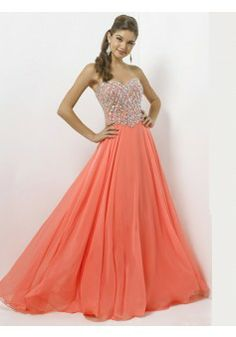 A-line Sweetheart Sleeveless Chiffon Watermelon Prom Dresses With Beading #FJ029 - See more at: http://www.victoriasdress.com/prom-dresses/beading-prom-dresses.html#sthash.YKwXKb56.dpuf
