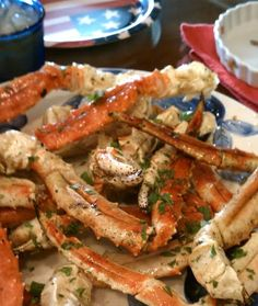 Snow crab recipe: This has Garlic butter sauce! I add Lemon Juice and Old Bay seasoning...the search continues!..I may just have to come up with my own blog because nothing beats my own recipe