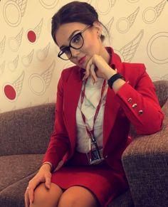 Red Leather, Leather Jacket, Virgin Atlantic, Cabin Crew, Flight Attendant, Beautiful, Instagram, Fashion, Studded Leather Jacket