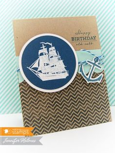 Simple Flourishes Using Ocean Bound from http://www.waltzingmousestamps.com/