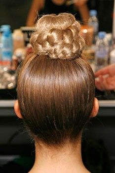 Make a good hair day statement with this braided topknot