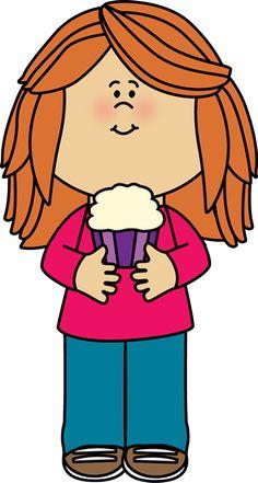 Girl Holding a Cupcake