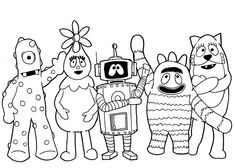 Yo Gabba Gabba Eyes Coloring Pages Printable Free |