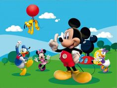 And Friends Wall Covering For Children Pluto Donald Mickey Mouse Clipart