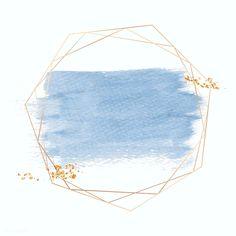Gold geometric frame on a blue brushstroke background vector Flower Background Wallpaper, Framed Wallpaper, Flower Backgrounds, Watercolor Background, Wallpaper Backgrounds, Pink Glitter Background, Backgrounds Free, Fond Design, Instagram Background