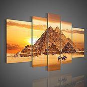 Картины и панно ручной работы. Ярмарка Мастеров - ручная работа Пейзаж с Пирамидами Хеопса. Handmade.