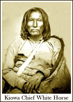 "In 1875, Kiowa chief White Horse (Tsen-tainte) and a group of followers surrendered at Fort Sill, Indian Territory. White Horse had gained considerable notoriety during the early 1870s for his raids on Texas settlements, and was considered the ""most dangerous man"" among the Kiowas. White Horse was incarcerated at St. Augustine, Florida. He died of a stomach ailment in 1892 and was buried on the reservation near Fort Sill."