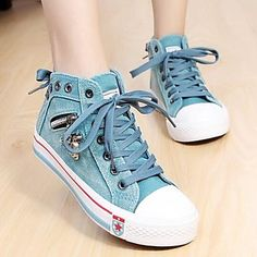 Women's Shoes Comfort Round Toe Flat Heel Canvas Fashion Sneakers Shoes More Colors available – CAD $ 41.69