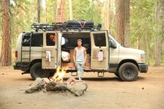 Van life means a simpler life. Sportsmobile loaded with Aluminess gear!