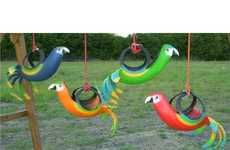 Recycled tire swings