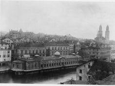 Die Fleischhalle am Limmatquai, Louvre, Building, Travel, Past, City, Photo Illustration, Viajes, Buildings, Trips