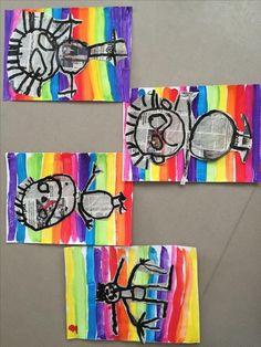Kindergarten #Kindergarten #recycelte Kunsthandwerk Kinder Vorschule Kindergarten Art, Preschool Art, Art For Kids, Crafts For Kids, Arts And Crafts, Arte Elemental, Newspaper Art, Scribble Art, Ecole Art