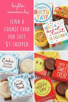 Brighten Someone's Day! Send a Cookie Card for Any Occasion Just $5 Shipped (or Choose a Two-Pack) | MomsWhoSave.com Frugal Living Tips, Teacher Gifts, Gift Guide, Cookie Recipes, Coupons, Saving Money, Diy And Crafts, Unique Gifts, Sweet Treats