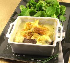 Bœuf gratiné façon Normande | Envie de bien manger. Plus de recettes ici : http://www.enviedebienmanger.fr/idees-recettes/recettes-gratin