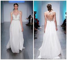 Alvina Valenta tie-back wedding dress