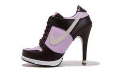 Dunk SB Low Heels Chocolate & Pink Colors Ladies Nike Sneakers