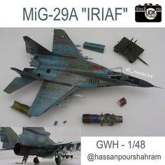 """Persian spearhead"" Mikoyan-Gurevich MiG-29 Fulcrum IRIAF (1/48 - Great Wall Hobby) Author: Shahram Hassanpour @hassanpourshahram #vocenaudk #scalemodel #plastimodelismo #miniatura #miniature #miniatur #hobby #scalemodelkit #plastickits #usinadoskits #udk #maqueta #maquette #modelismo #modelism #passatempo #arte #art #pastime #mig #aircraft #caça #fighter #iriaf #iran #airforce #greatwallhobby #gwh"