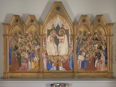 Coronation of the Virgin, Jacopo di Cione and workshop, c.1370 (National Gallery, London)