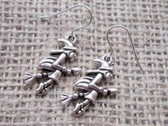 Flying Witch Silver Earrings