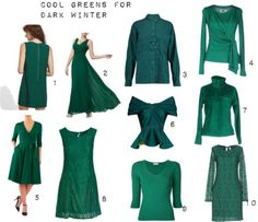 Cool Greens for Dark Winter