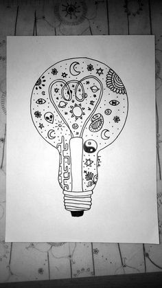 Image de black and white, cactus, and light bulb