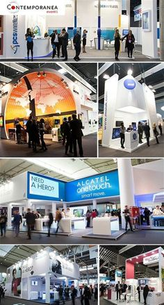 Mobile world congress - Intersec stand : one of the most popular and noticed in Barcelona