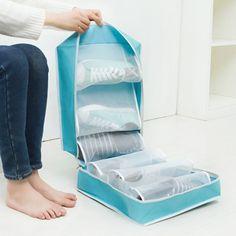 Dustproof Oxford Portable Folding Shoes Storage Bag Travel Tote Zipper Pouch Waterproof Organizer U0815 #Affiliate