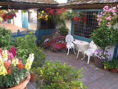 Quaint courtyard in Carmel-by-the-Sea