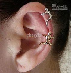 Ear Cuff Jewelry, Cuff Earrings, Clip On Earrings, Silver Earrings, Body Jewelry, Ear Cuffs, Helix Cartilage Earrings, Silver Ear Cuff, Silver Ring