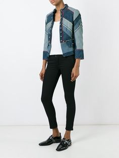 Marc By Marc Jacobs denim military jacket